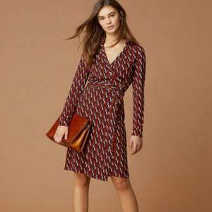 """DVF """"New Jeanne Two Silk-Jersey Wrap Dress"""""""